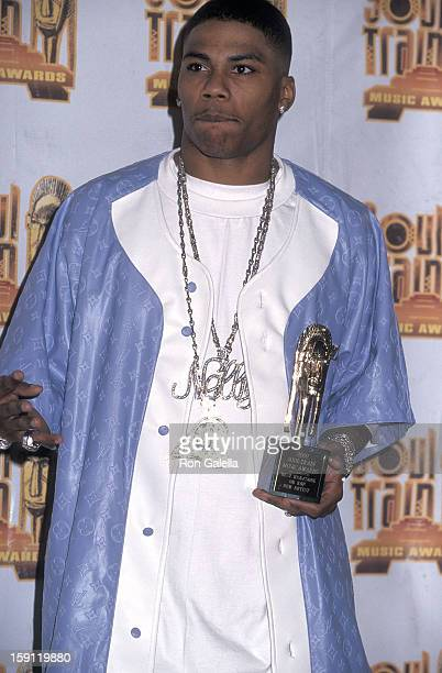 Rapper Nelly attends the 15th Annual Soul Train Music Awards on February 28 2001 at the Shrine Auditorium in Los Angeles California