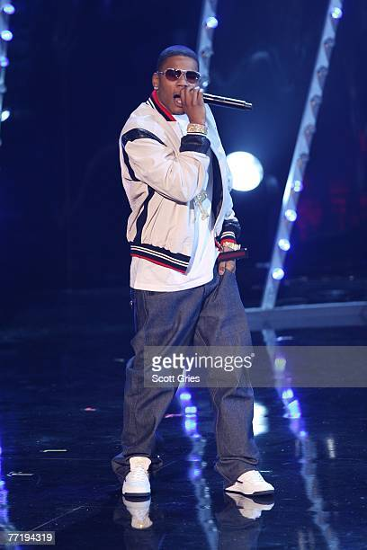 Rapper Nelly onstage during the 4th Annual VH1 Hip Hop Honors ceremony at the Hammerstein Ballroom on October 4 2007 in New York City