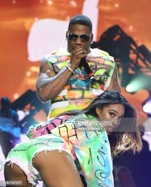 Rapper Nelly performs at Nelly TLC and Flo Rida In Concert Atlanta GA at Cellairis Amphitheatre at Lakewood on July 24 2019 in Atlanta Georgia