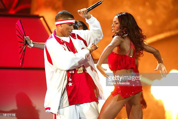 Rapper Nelly performs during the 45th Annual Grammy Awards at Madison Square Garden on February 23 2003 in New York City