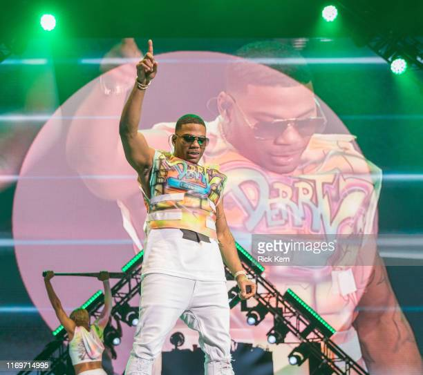 Rapper Nelly performs in concert at Austin360 Amphitheater on August 22, 2019 in Austin, Texas.