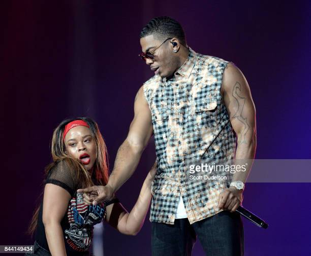 Rapper Nelly performs onstage at Honda Center on September 7 2017 in Anaheim California