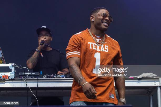 US rapper Nelly performs onstage at the ACL Music Festival at Zilker Park in Austin on October 6 2018