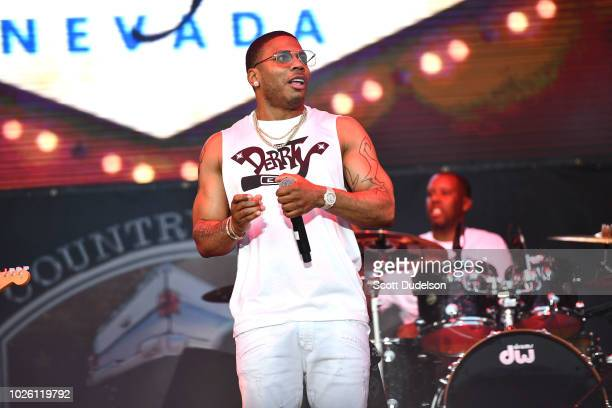Rapper Nelly performs onstage during the Tailgate Festival at The Forum on September 1 2018 in Inglewood California