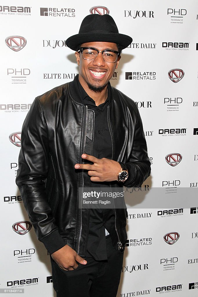DuJour's Jason Binn Celebrates January Cover Star Nick Cannon With Elite Daily, Related Rentals, Invicta And Philipp Plein At PHD Terrace At Dream Midtown