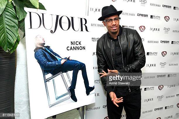 Rapper Nick Cannon attends as Jason Binn of DuJour celebrates January cover star Nick Cannon with Elite Daily, Related Rentals, Invicta and Philipp...