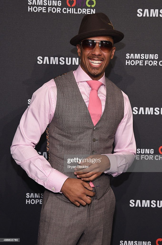Rapper Nick Cannon attends the Samsung Hope for Children Gala 2015 at Hammerstein Ballroom on September 17, 2015 in New York City.