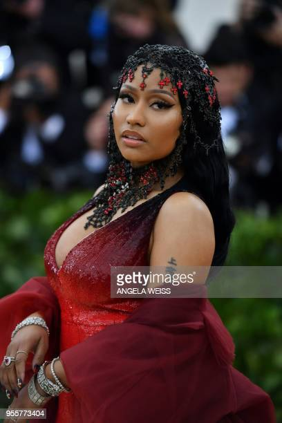 Rapper Nicki Minaj arrives for the 2018 Met Gala on May 7 at the Metropolitan Museum of Art in New York