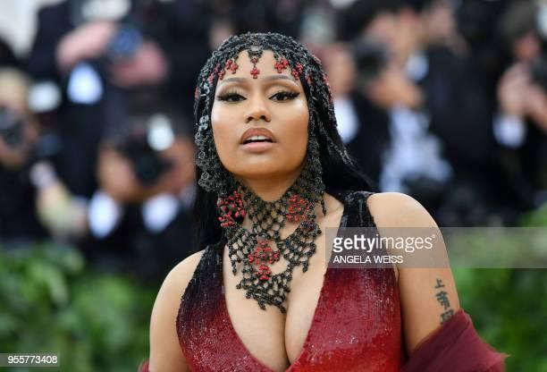 Rapper Nicki Minaj arrives for the 2018 Met Gala on May 7 at the Metropolitan Museum of Art in New York.