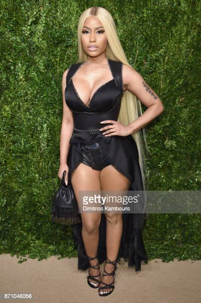 Rapper Nicki Minaj attends the 14th Annual CFDA/Vogue Fashion Fund Awards at Weylin B Seymour's on November 6 2017 in the Brooklyn borough of New...