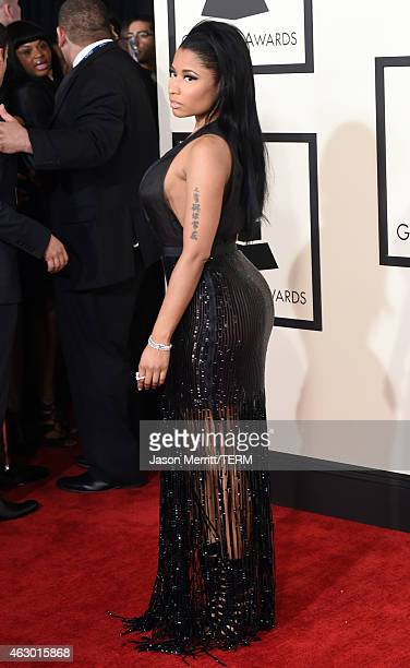 Rapper Nicki Minaj attends The 57th Annual GRAMMY Awards at the STAPLES Center on February 8 2015 in Los Angeles California