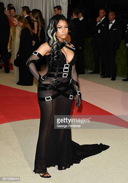 Rapper Nicki Minaj attends the 'Manus x Machina Fashion in an Age of Technology' Costume Institute Gala at the Metropolitan Museum of Art on May 2...