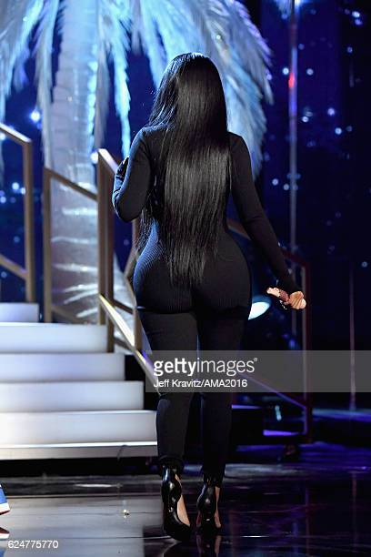 Rapper Nicki Minaj onstage at the 2016 American Music Awards at Microsoft Theater on November 20 2016 in Los Angeles California