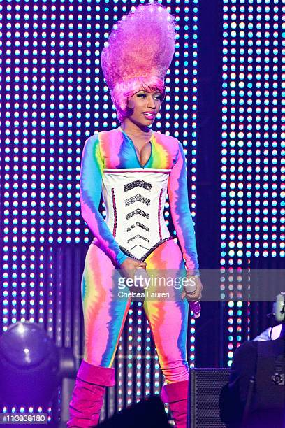 Rapper Nicki Minaj performs at Staples Center on April 22 2011 in Los Angeles California