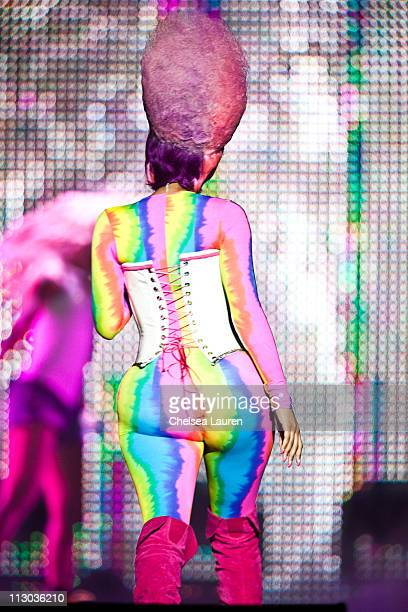 Rapper Nicki Minaj performs at Staples Center on April 22 2011 in Los Angeles California
