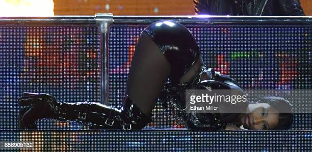 Rapper Nicki Minaj performs during the 2017 Billboard Music Awards at TMobile Arena on May 21 2017 in Las Vegas Nevada