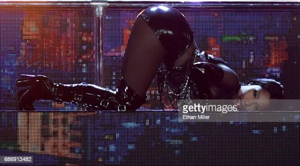 Rapper Nicki Minaj performs during the 2017 Billboard Music Awards at TMobile Arena on May 21 2017 in Las Vegas Nevada