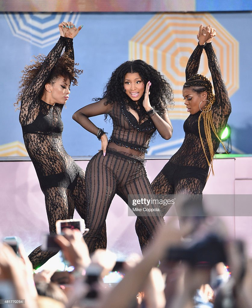 Rapper Nicki Minaj performs on ABC's 'Good Morning America' at Rumsey Playfield, Central Park on July 24, 2015 in New York City.