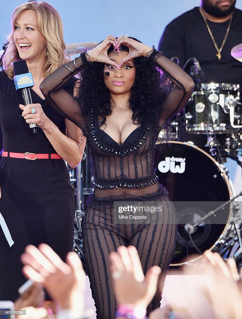 Nicki minaj performs on abcs rapper nicki minaj performs on abcs good morning america at rumsey playfield central m4hsunfo Images
