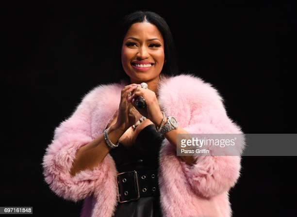Rapper Nicki Minaj performs onstage at Hot 1079 Birthday Bash ATL Pop Up Edition at Philips Arena on June 17 2017 in Atlanta Georgia