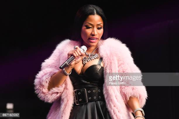 Rapper Nicki Minaj performs onstage at Hot 1079 Birthday Bash ATL Pop Up Edition at Philips Arena on June 17 2017 in Atlanta Georgia
