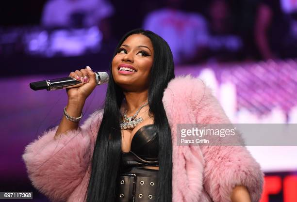 Rapper Nicki Minaj performs onstage at Hot 1079 Birthday Bash Pop Up Edition at Philips Arena on June 17 2017 in Atlanta Georgia