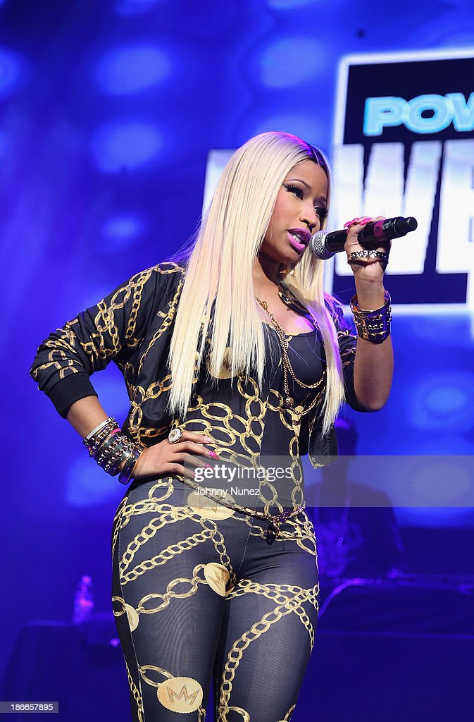 Rapper Nicki Minaj performs onstage at Power 105.1's Powerhouse 2013, presented by Play GIG-IT, at Barclays Center on November 2, 2013 in New York City.