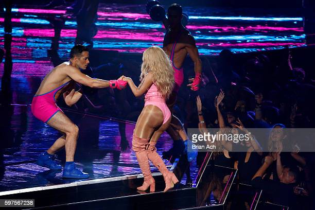 Rapper Nicki Minaj performs onstage during the 2016 MTV Video Music Awards at Madison Square Garden on August 28 2016 in New York City