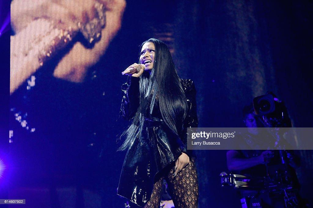 Rapper Nicki Minaj performs onstage during