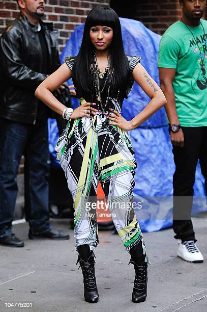 Rapper Nicki Minaj visits the Late Show With David Letterman taping at the Ed Sullivan Theater on October 4 2010 in New York City