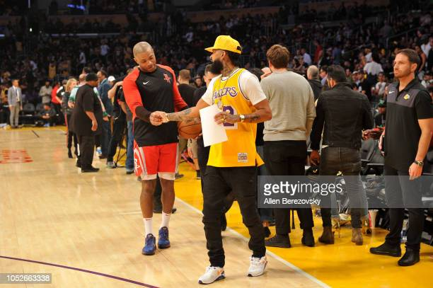 Rapper Nipsey Hussle attends a basketball game between the Los Angeles Lakers and the Houston Rockets at Staples Center on October 20 2018 in Los...