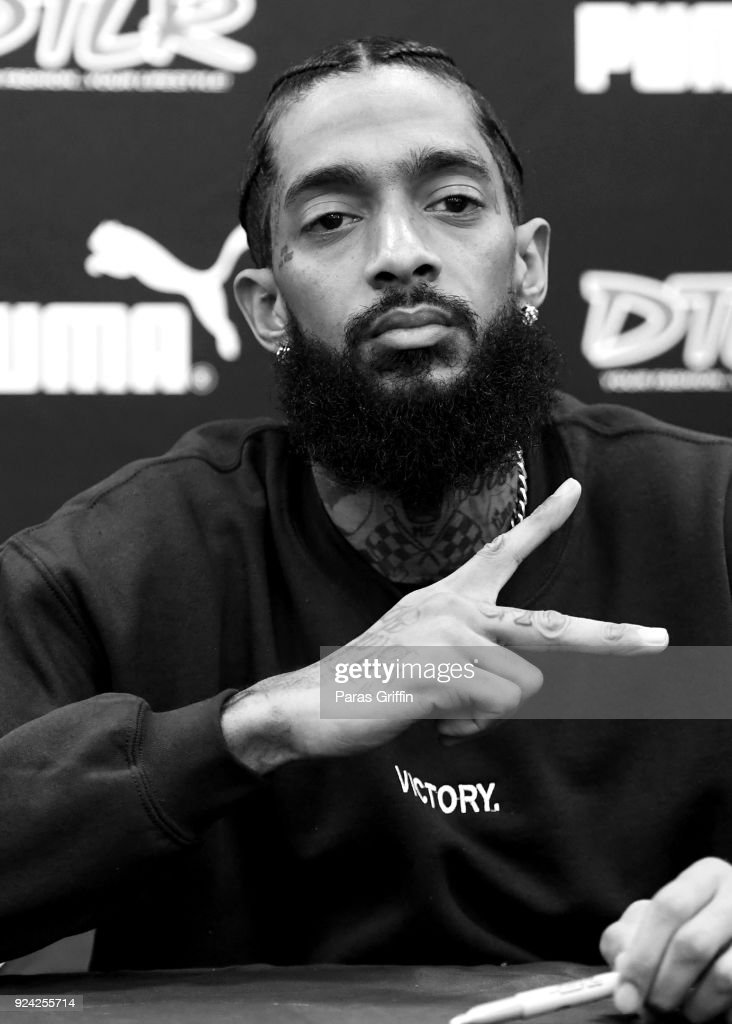 Rapper Nipsey Hussle attends his