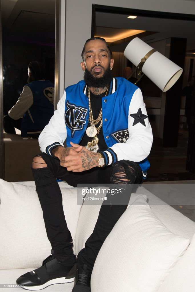 Rapper Nipsey Hussle poses for a photo at his Private Debut