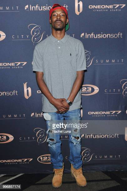 Rapper Nitro Geez attends City Summit Wealth Mastery And Mindset Edition afterparty at Allure Banquet Catering on July 11 2018 in Van Nuys California