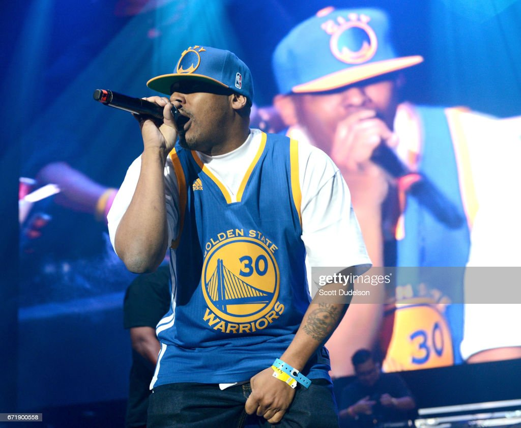 Rapper Numskull from Luniz performs onstage during the 93.5 KDAY Krush Groove 2017 concert at The Forum on April 22, 2017 in Inglewood, California.