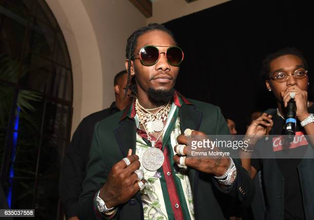 Rapper Offset of Migos attends GQ and Chance The Rapper Celebrate the Grammys in Partnership with YouTube at Chateau Marmont on February 12 2017 in...