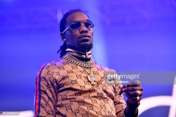 Rapper Offset of the group Migos performs onstage at the Rolling Loud Festival at NOS Events Center on December 16 2017 in San Bernardino California