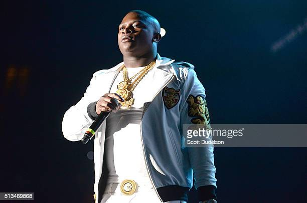 Rapper OT Genasis performs onstage at The Forum on February 28 2016 in Inglewood California