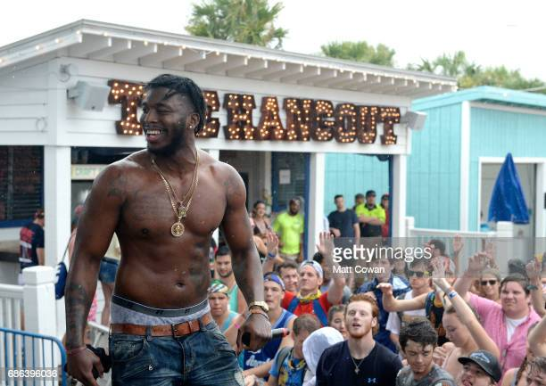 Rapper Pardison Fontaine performs at the Mermaid Stage during 2017 Hangout Music Festival on May 21 2017 in Gulf Shores Alabama