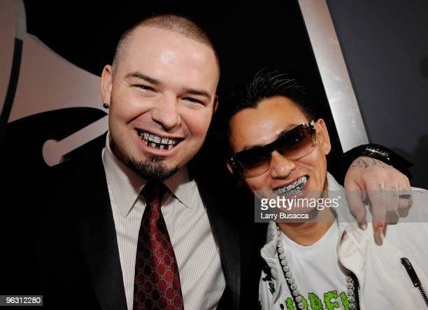Rapper Paul Wall and jeweler Johnny Dang arrive at the 52nd Annual GRAMMY Awards held at Staples Center on January 31 2010 in Los Angeles California