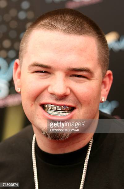 Rapper Paul Wall arrives at the 2006 BET Awards at the Shrine Auditorium on June 27 2006 in Los Angeles California