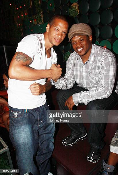 Rapper Peter Gunz and TV personality Sway Calloway attend a special screening of Nino Brown Story Part 3 at Greenhouse on July 8 2010 in New York City