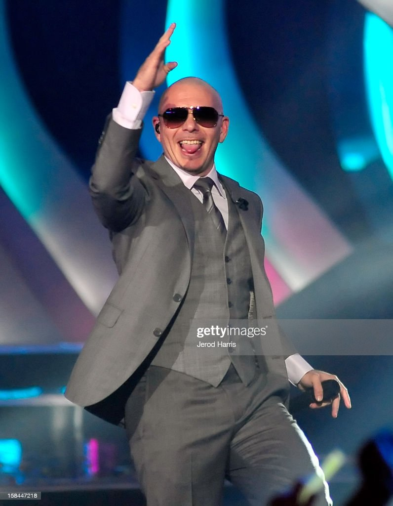 Rapper Pitbull performs onstage at 'VH1 Divas' 2012 held at The Shrine Auditorium on December 16, 2012 in Los Angeles, California.