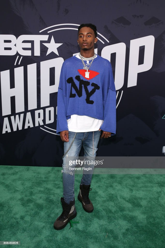 Rapper Playboi Carti attends the BET Hip Hop Awards 2017 at The Fillmore Miami Beach at the Jackie Gleason Theater on October 6, 2017 in Miami Beach, Florida.