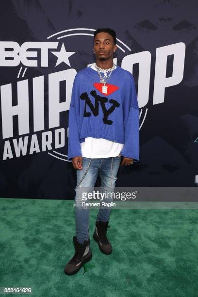 Rapper Playboi Carti attends the BET Hip Hop Awards 2017 at The Fillmore Miami Beach at the Jackie Gleason Theater on October 6, 2017 in Miami Beach,...