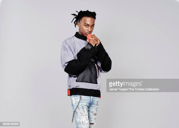 Rapper Playboi Carti is photographed for Forbes Magazine on October 29, 2017 in New York City. PUBLISHED IMAGE. CREDIT MUST READ: Jamel Toppin/The...