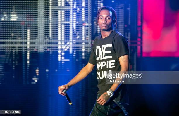 Rapper Playboi Carti performs at PNC Music Pavilion on July 10 2019 in Charlotte North Carolina