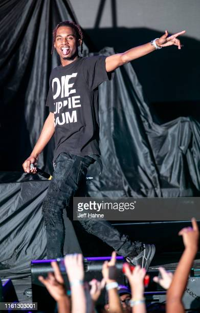 Rapper Playboi Carti performs at PNC Music Pavilion on July 10, 2019 in Charlotte, North Carolina.