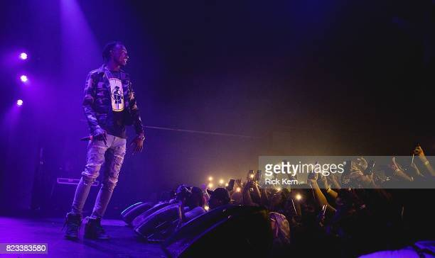 Rapper Playboi Carti performs in concert at Emo's on July 26, 2017 in Austin, Texas.