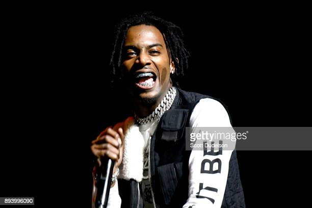 Rapper Playboi Carti performs onstage at the Rolling Loud Festival at NOS Events Center on December 16, 2017 in San Bernardino, California.